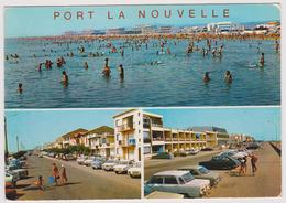 11 - PORT LA NOUVELLE - Multivues: La Plage, Le Boulevard St Charles - Editions Larrey N° 14929 - Voitures - Port La Nouvelle