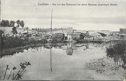 Conflans-en-Jarnisy, Pont Détruit Par Les Français (Die Von Den Franzosen Bei Ihrem Rückzug Gesprengte Brücke) - Francia