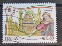 *ITALIA* USATI 2007 - REGIONI UMBRIA - SASSONE 2957 - LUSSO/FIOR DI STAMPA - 6. 1946-.. Repubblica