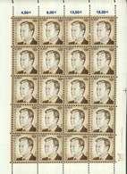 Luxembourg Feuille De 20 Timbres à 0,90 Euro Grand-Duc Henri - Full Sheets