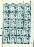 Luxembourg Feuille De 20 Timbres à 1 Euro Grand-Duc Henri - Full Sheets