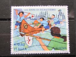 *ITALIA* USATI 2007 - EUROPA 100 ANNI SCAUTISMO - SASSONE 2967 - LUSSO/FIOR DI STAMPA - 6. 1946-.. Repubblica