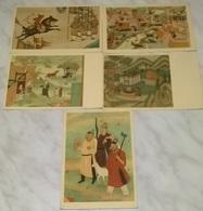 5 CARTOLINE ARTE ORIENTALE   (776) - Cartoline