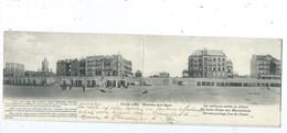 Knokke Knocke Panorama De La Digue ( Carte Double ) - Knokke