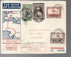 CONGO - PREMIER VOL A/R - 1935 - PL5 - Luftpost: Briefe U. Dokumente