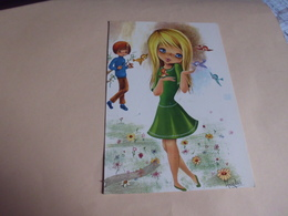 BELLE ILLUSTRATION ...JEUNES ENFANTS ET OISEAUX ..SIGNE ARGELES ?? - Illustratori & Fotografie