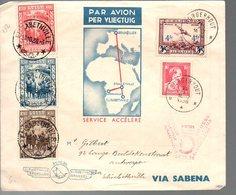 CONGO - PREMIER VOL A/R - 1936 - PL5 - Luftpost: Briefe U. Dokumente
