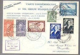 CONGO - PREMIER VOL A/R 1937 - AVION PELICAN  - PL5 - Luftpost: Briefe U. Dokumente