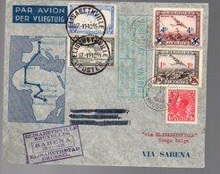 CONGO - PREMIER VOL A/R 1935  - PL5 - Luftpost: Briefe U. Dokumente