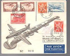 CONGO - PREMIER VOL 1946   - PL5 - Luftpost: Briefe U. Dokumente