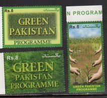PAKISTAN, 2018, MNH, GREEN PAKISTAN PROGRAMME, TREES, ENVIRONMENT, 3v - Environment & Climate Protection