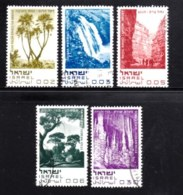 ISRAEL, 1970, Used Hinged Stamp(s), Without Tab, Nature Reserves, SG Number 432-436, Scan Number 17405 - Israel