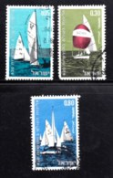 ISRAEL, 1970, Used Stamp(s), Without Tab, Sailing Championship, SG Number 451-453, Scan Number 17411 - Israel