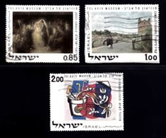 ISRAEL, 1970, Used Stamp(s), Without Tab, Paintings Jewish Museum, SG Number 465-467, Scan Number 17416 - Israel