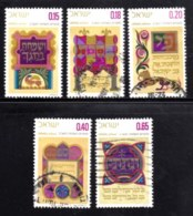 ISRAEL, 1971, Used Stamp(s), Without Tab, New Year, SG Number 488-492, Scan Number 17423 - Israel