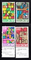 ISRAEL, 1972, Used Stamp(s), Without Tab, Education, SG Number 512-515, Scan Number 17426 Partly Unused With Tab - Israel