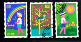 ISRAEL, 1974, Used Stamp(s), Without Tab, Arbour Day, SG Number 588-590, Scan Number 17445 - Israel