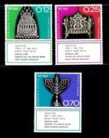 ISRAEL, 1972, Unused Hinged Stamp(s), With Tab, Hanukka Festival, SG Number 540-542, Scan Number 17430, - Israel