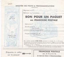 FRANCE TIMBRE DE FRANCHISE MILITAIRE POUR COLIS N° 15 NOIR FRANCHISE POSTALE - Franchise Militaire (timbres)