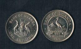 Uganda 50 Cents 1976 - KM#4a ( Magnetic)- Rare! - Ouganda