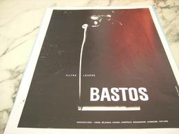 ANCIENNE PUBLICITE FILTRE LEGERE CIGARETTES BASTOS  1968 - Tabac (objets Liés)
