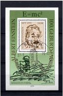 Germany (DDR) 1979 Albert Einstein Mi.2402 (block 54)  USED - Albert Einstein