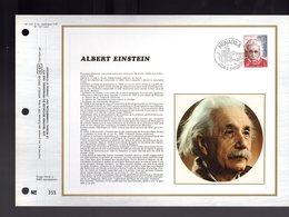 """"""" ALBERT EINSTEIN """" Sur Feuillet CEF Soie Nté à Tirage Limité (3000 Ex) De 1979 Parfait état. FDC - Albert Einstein"""