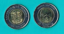 Panama 1 Balboa ( Iglesia San Jose)- 2019 - Bimetal - Panama