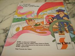ANCIENNE PUBLICITE  CIGARETTE SCORE 1968 - Tabac (objets Liés)