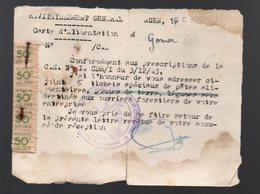 Agen (47 Lot Et Garonne) (rationnement)  Bon D'envoi Pour 5 Tickets Spéciaux De Pâtes Alimentaires 1944 (PPP16987) - Old Paper