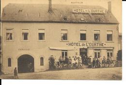 Houffalize - Hôtel De L' Ourthe Près De La Gare - Prop: Mathurin Lemaire - Circulé - 2 Scans. - Houffalize