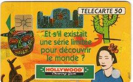 N°05 / TÉLÉCARTE 1992 HOLLYWOOD CHEWING GUM   50 U  - / VOIR DOS - Alimentation
