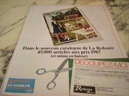 ANCIENNE AFFICHE PUBLICITE LA REDOUTE ROUBAIX 1968 - Habits & Linge D'époque