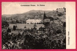 Greetings From St. Helena - Government House - T. JACKSON - Sainte-Hélène