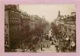 PARIS - Perspective Du Boulevard Des Italiens, Photo Vers 1900 Format 17,6cm X 12cm . - Plaatsen
