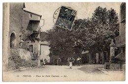 CPA   07   PRIVAS      1931      PLACE DU PETIT TOURNON  TRES ANIMEE - Privas