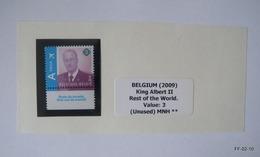 BELGIUM 2009 - King Albert II. For Rest Of The World, Value 3, SG4227 -  MNH - Bélgica