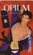 N°05 / TÉLÉCARTE 1995 OPIUM POUR HOMME YVES SAINT LAURENT   50 U  - / VOIR DOS - Paysages