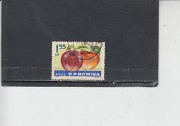 ROMANIA  1963 - Yvert 1934 - Alimentazione .frutta - Mele - Alimentazione
