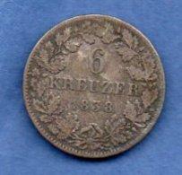 Hessen  -  6 Kreuzer 1838  -  Km # 306  -  état  TB - [ 1] …-1871 : Etats Allemands