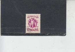 ROMANIA  1955 - Yvert 1418 - Alimentazione - Barbabietola - Alimentazione
