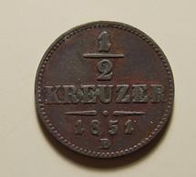Austria 1/2 Kreuzer 1851 B - Austria