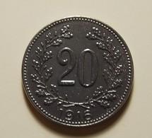 Austria 20 Heller 1916 Varnished - Austria