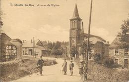 """Moulin Du Ruy """"Stoumont"""" - N°10 - Avenue De L'Eglise - Facteur à Vélo - Circulé: 1936 - 2 Scans. - Stoumont"""