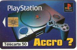 N°05 / TÉLÉCARTE 1996 SONY LA PLAYSTATION    50 U  - / VOIR DOS - Jeux