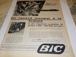 ANCIENNE PUBLICITE C EST AUTRE CHOSE STYLO  BIC 1955 - Autres Collections