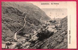 Greetings From St. Helena - Jamestown - T. JACKSON - Sainte-Hélène