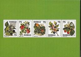 SVERIGE - BACCHE SELVATICHE - DA LIBRETTO 1977 - NUOVA - Francobolli (rappresentazioni)