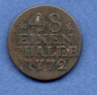 Prusse -  1 /48 Thaler 1772 A  -  Km # 327  -  état  TB+ - [ 1] …-1871 : German States