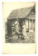 ILE SAINTE MARIE N°12 MALGACHES PILANT LE RIZ EDITEUR PHOTO ATELIER MARSEILLE MADAGASCAR - Madagascar